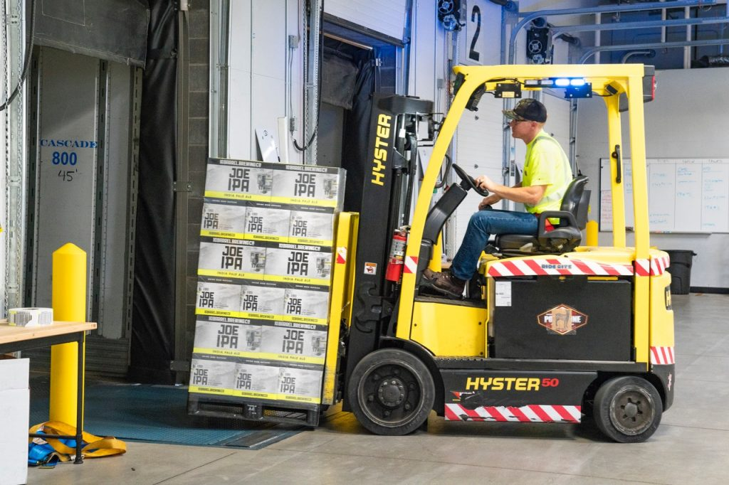 Forklift truck in Logistics Company