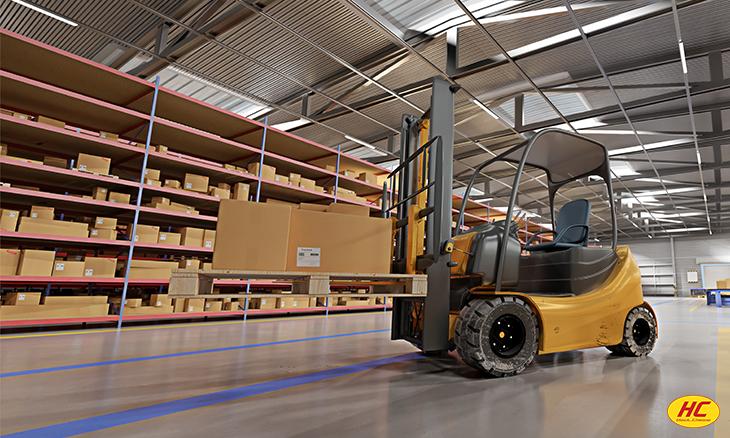 inside warehouse logistics